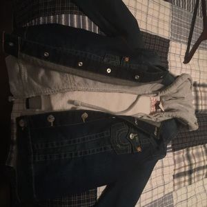 New True Religion Jean Jacket with hoodie